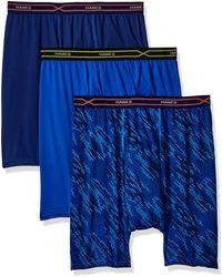 Hanes 3-pack X-temp Performance Cool Boxer Brief - Blue