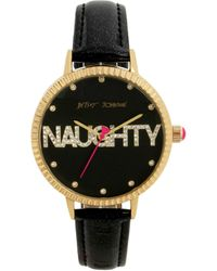 Betsey Johnson Naughty Watch - Black