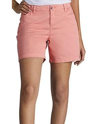 Lee Jeans Straight Fit Tailored Chino Short - Pink