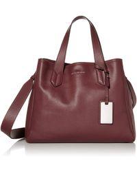 Emporio Armani Designer Slouchy Leather Tote - Multicolor