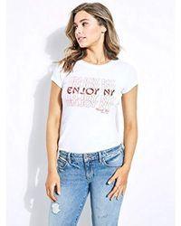 Guess - Short Sleeve Enjoy Ny T-shirt - Lyst