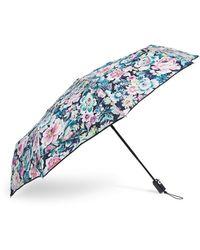 Vera Bradley S Compact Umbrella Garden Grove One Size - Blue