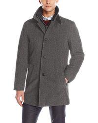Calvin Klein Wool Blend Winter Jacket - Gray
