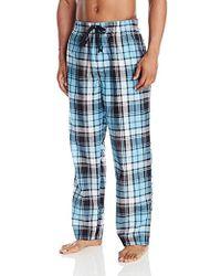 Perry Ellis Large Plaid Woven Sleep Pant - Blue