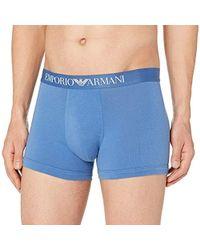 Emporio Armani Cotton Stretch Boxer Brief - Blue
