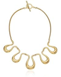 """Trina Turk - """"gold Rush Wavy Frontal Necklace, 17.5"""" - Lyst"""