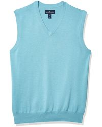 Buttoned Down 100% Supima Cotton Sweater - Blue