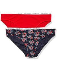 Tommy Hilfiger - Printed Cotton Bikini Underwear Panty, Multipack - Lyst
