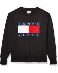 Tommy Hilfiger Flag Patch Crewneck Sweatshirt - Black