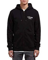 Volcom - Supply Stone Zip Up Hooded Fleece Sweatshirt - Lyst