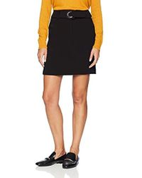 Armani Exchange - | Belted Mini Pencil Skirt - Lyst