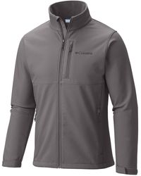 Columbia Size Ascender Softshell Front-zip Jacket - Gray