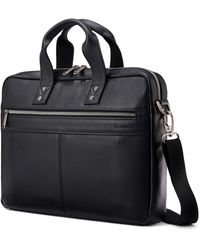 Samsonite Classic Leather Slim Brief - Black