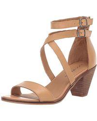 Lucky Brand Ressia Heeled Sandal, Desert, 5.5 M Us - Natural
