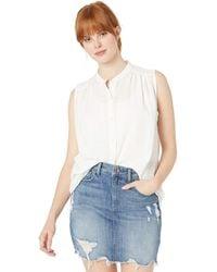 Lucky Brand Sleeveless Tunic Top - White
