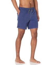 Lacoste Solid Semi Fancy Swim Trunks - Blue