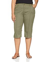Lee Jeans - Plus-size Relaxed Fit Lyric Knit Waist Cargo Capri Pant - Lyst