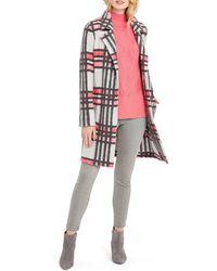 NIC+ZOE Check Pop Coat - Pink