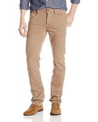 Hudson Jeans Byron Five Pocket Straight Leg Twill Jeans - Natural