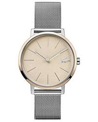 Lacoste Quartz Watch With Stainless Steel Strap, Two Tone, 16 (model: 2001072) - Metallic