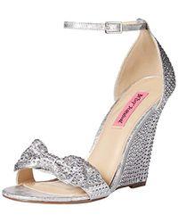 Betsey Johnson Delancyy Wedge Sandal - Metallic