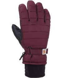 Carhartt Quilts Insulated Breathable Glove With Waterproof Wicking Insert - Multicolor