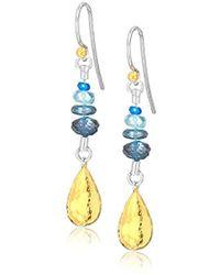 Gurhan - Vertigo Flurries Collection Sterling Silver Linear Bead Hook Drop Earring, One Size - Lyst