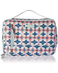 b7d8de25fa Vera Bradley - Lighten Up Large Blush & Brush Case, Polyester - Lyst