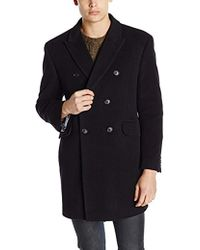 Tommy Hilfiger Burbank Double Breasted Walker Coat - Black