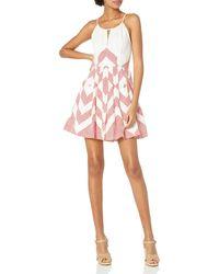 Plenty by Tracy Reese Halter Neck Dress - Pink