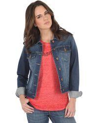 Wrangler Western Fashion Denim Jacket - Blue