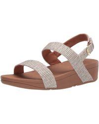 Fitflop Lottie Glitter Stripe Back-strap Sandals - Brown