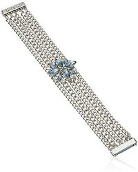 Guess - Chain Link Bracelet With Magnetic Closure, Silver, One Size - Lyst