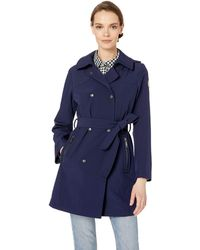 Vince Camuto Double-breasted Softshell Jacket - Blue