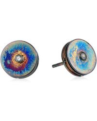 Elizabeth and James Nile White Topaz Stud Earrings - Multicolor