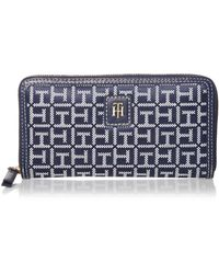 Tommy Hilfiger Julia Large Nylon Zip Wallet - Blue