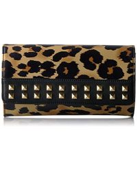 Juicy Couture - Leopard Wallet With Gold Chain And Studs - Lyst