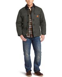 Carhartt Arctic Quilt Lined Sandstone Traditional Coat C26 - Gray