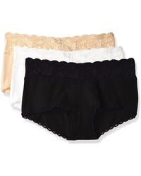 Cosabella Say Never Cheekie Hotpant Plus Size 3 Pack Set - Black