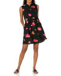 Amazon Essentials Sleeveless Woven Shift Dress - Noir