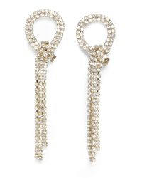 Vince Camuto Twisted Cupchain Earrings - Metallic