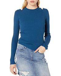 Bailey 44 Bailey44 Peek A Boo Cutout Martha Sweater - Blue