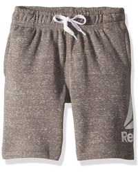 Reebok Boys' Little French Terry Luxe Short - Gray