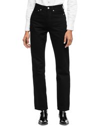 Calvin Klein High Rise Straight Fit Jeans - Black