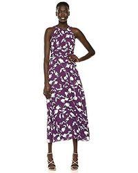 Adrianna Papell - Botanical Halter Maxi Dress - Lyst