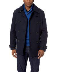 Lacoste Wool 2 In 1 Peacoat - Blue