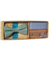 Original Penguin - 3-piece Solid Tie, Pocket Square & Lapel Pin Box - Lyst