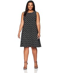 6dbcf46b Anne Klein - Size Plus Sleeveless Swing Dress - Lyst
