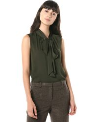 Theory Tie Scarf Top - Green