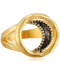 "Satya Jewelry - ""celestial"" Wax And Wane Moon Ring - Lyst"